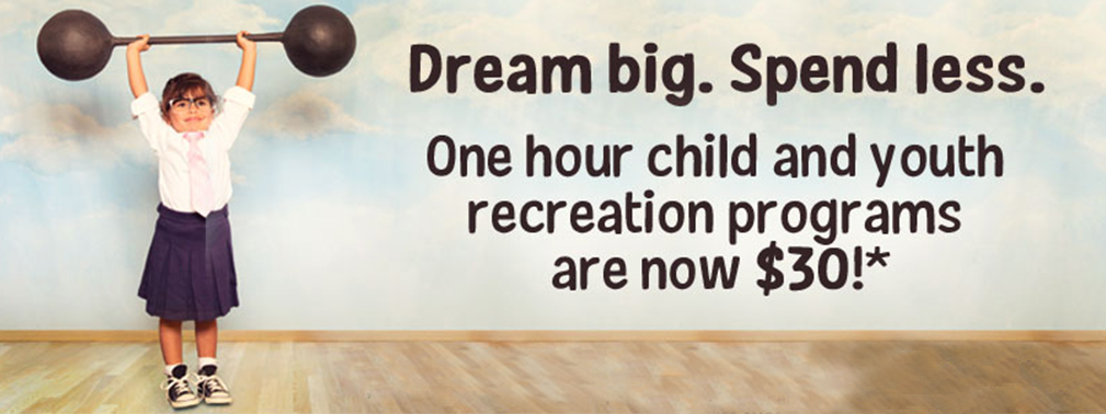30$ Recreation Programs Banner