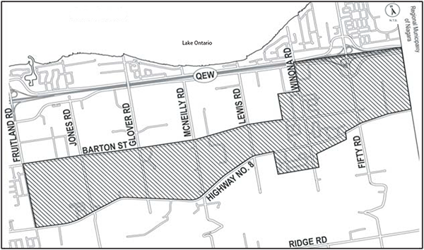 Map of the Fruitland-Winona Secondary Plan Area