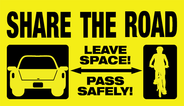 Share the Road. Leave space! Pass safely!