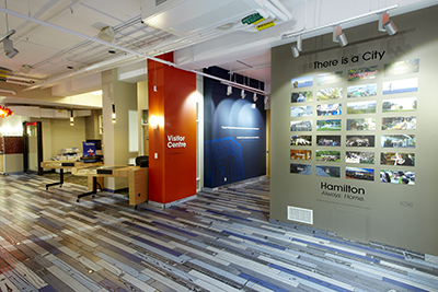 Interior of Tourism Hamilton Visitor Centre