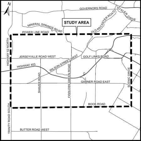 Study Area of the Ancaster Elevated Water Reservoir EA
