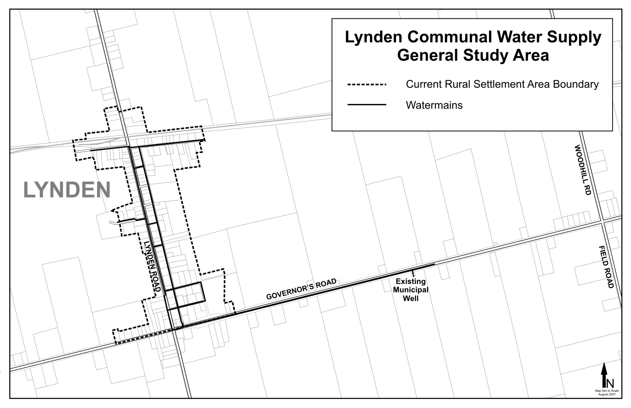 Study Area for the Lynden Community Water Supply EA