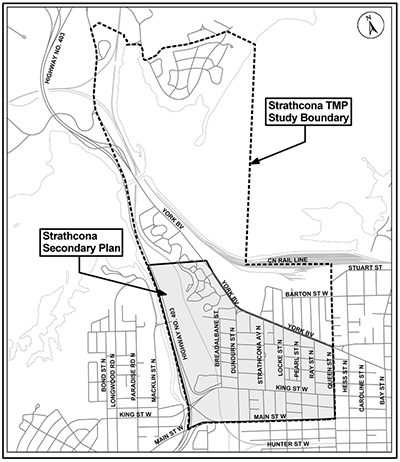 Map of the Strathcona TMP