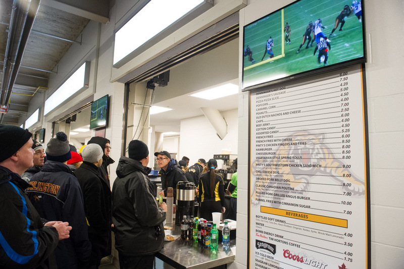 Tim Hortons Field concessions