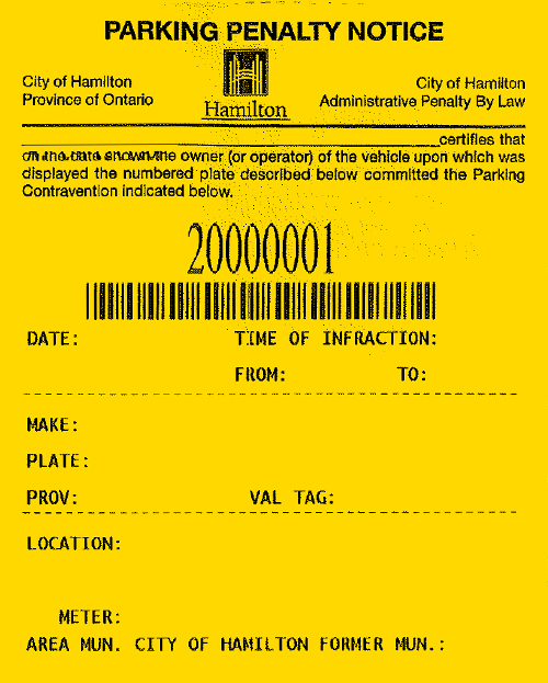 Pay Your Ticket City Of Hamilton Ontario Canada