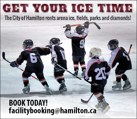 Get your ice time. They City of Hamilton rents arena ice, fields, parks and diamonds! Book Today!