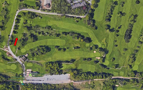 Aerial view of Toboggan hill at Chedoke Golf Course, 2016