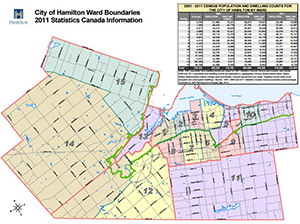 Image of current ward boundary map