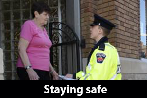 Staying safe information for seniors