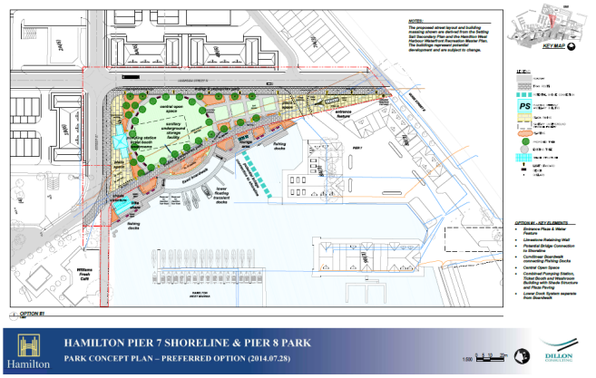 Concept Plan for Pier 7 Shoreline & Pier 8 Park