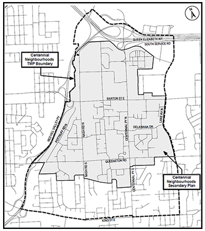 Map of Centennial Neighbourhood