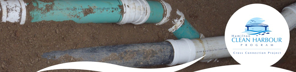 Hamilton Clean Harbour Program - Cross Connection Project. Image of underground pipes.