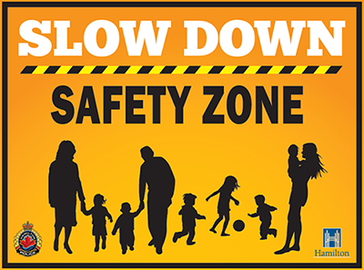 Slow Down Safety Zone Residential Street Sign