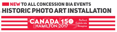 Concession BIA Historic Photo Art Installation Banner for Canada 150