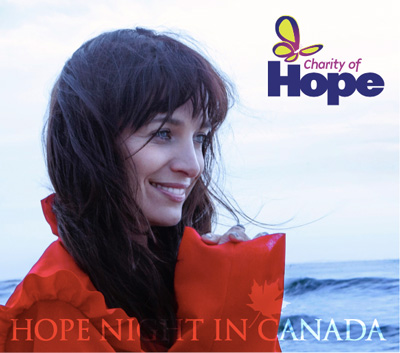 Hope Night in Canada Promo image with Chantal Kreviazuk