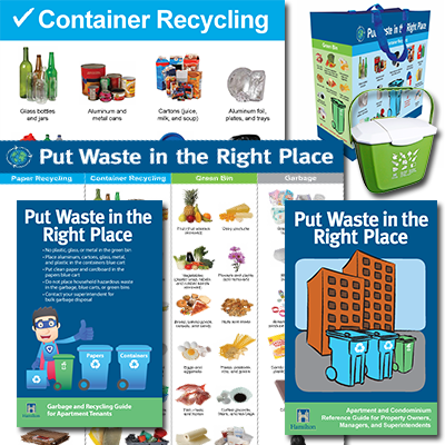 Examples of educational waste materials for property owners, managers and superintendents