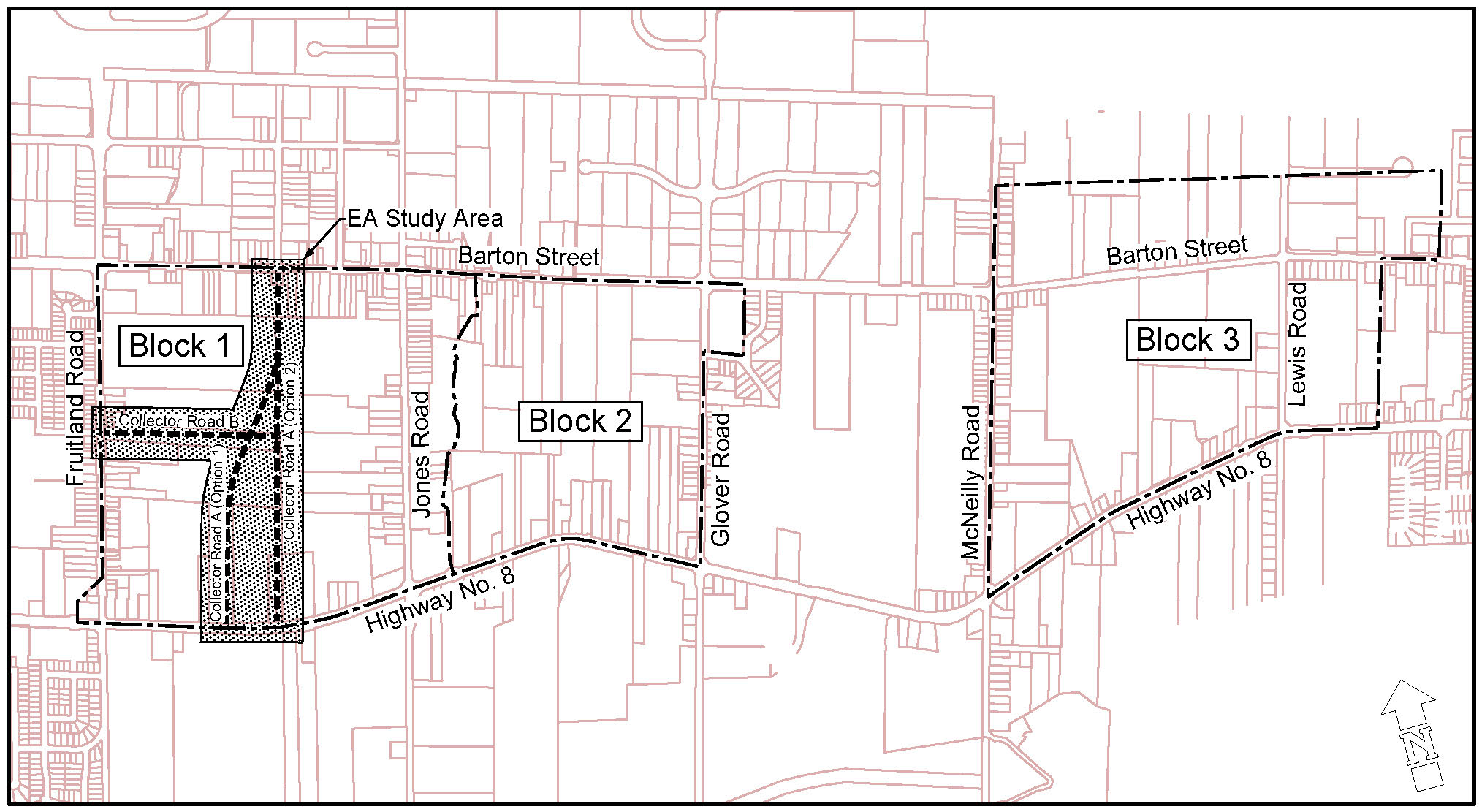 Location map for the Gordon Dean Avenue Municipal Class Environmental Assessment (Phases 3 and 4), and Block 1 and 2 Servicing Strategies