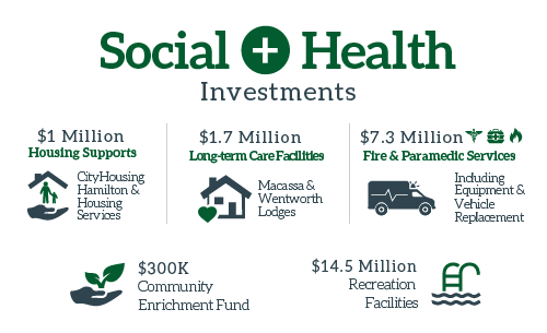 Social and Health Budget Infographic 2017