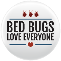 "Graphic of the City Bed Bugs Campaign ""Bed Bugs love Everyone"""