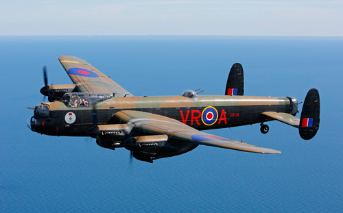 Lancaster plane in flight
