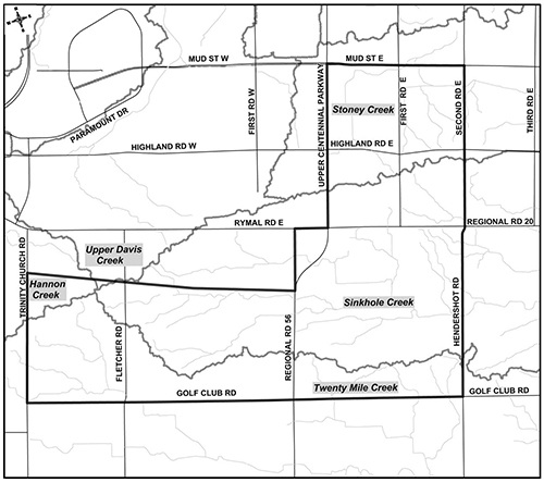 Location Map for the Elfrida Subwatershed Study