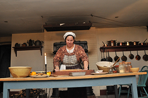 A women cooking during a class at Dundurn