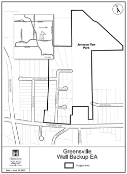 Greensville Backup Well Study Area Map