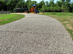 Image of pervious pavement in a city park