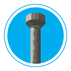 Illustration of water tower