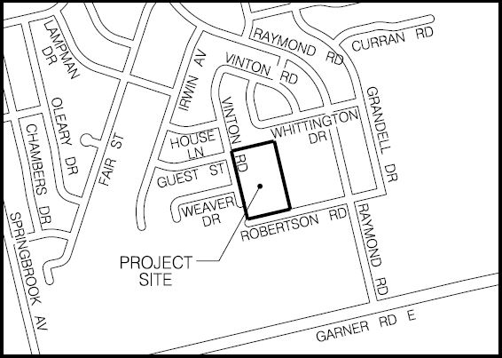 Ancaster Meadows project site map
