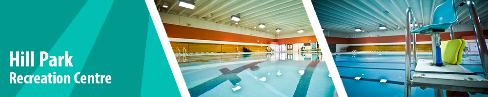 Hill Park Recreation Centre - interior facility images of pool and deck