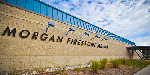 Morgan Firestone Arena exterior building