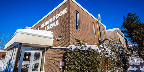 Glanbrook Arena exterior building/entrance