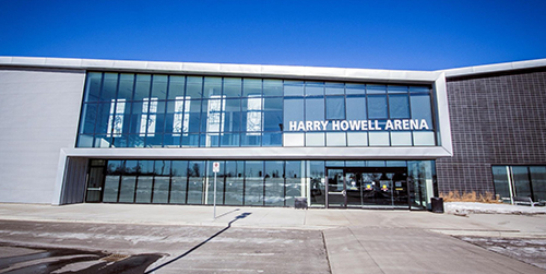 Harry Howell Arena exterior building/entrance