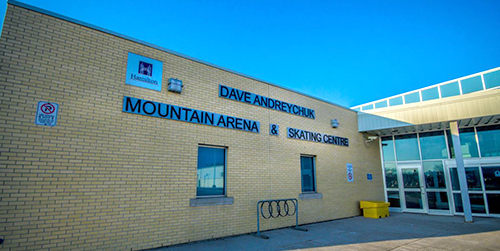 Dave Andreychuck Mountain Arena exterior building/entrance