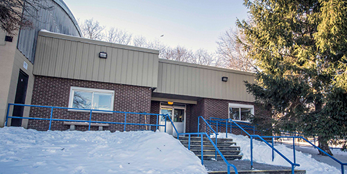 Stoney Creek Arena exterior building/entrance