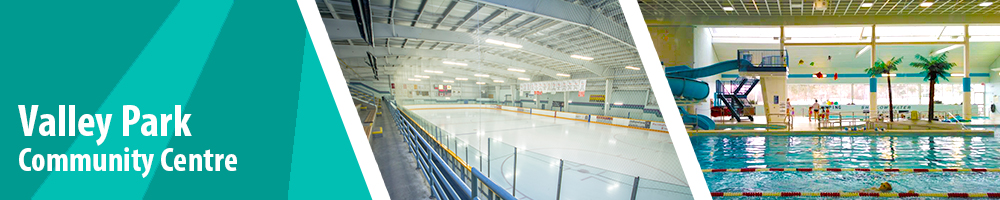Valley Park Community Centre - interior facility image of ice rink and pool deck