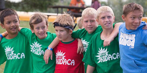 Group of boys at Camp Kidaca Summer