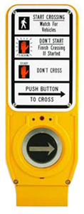 image of cross walk signal button