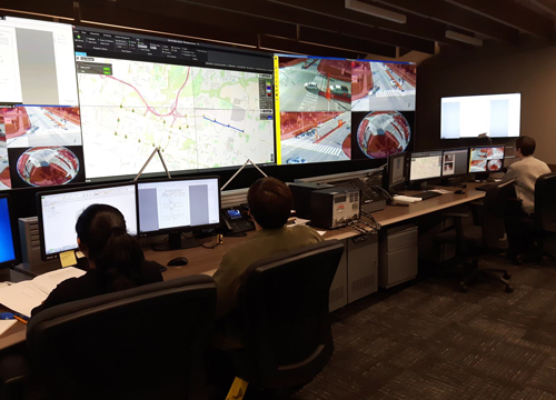 Image of traffic control centre
