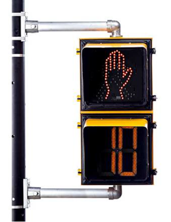 Image of cross walk sign with timer