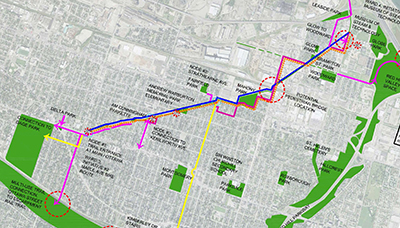 Concept plan of Pipeline Trail Master Plan