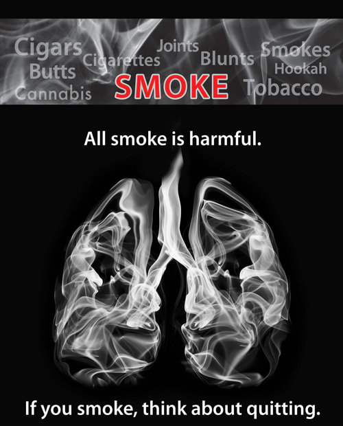 Poster to promote quitting smoking