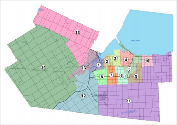 Map of Current Ward Boundaries