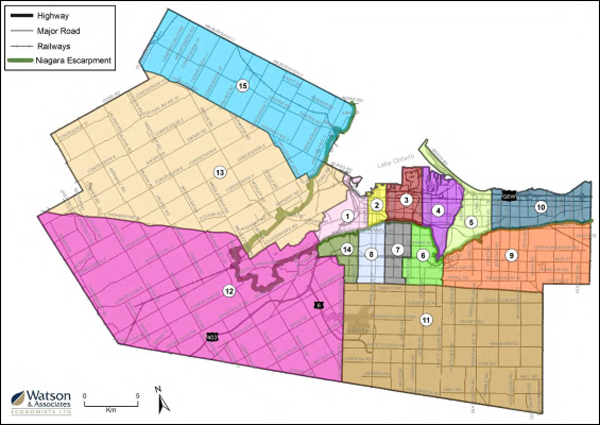 Map of Ward Boundary option 2 recommended by OMB decision
