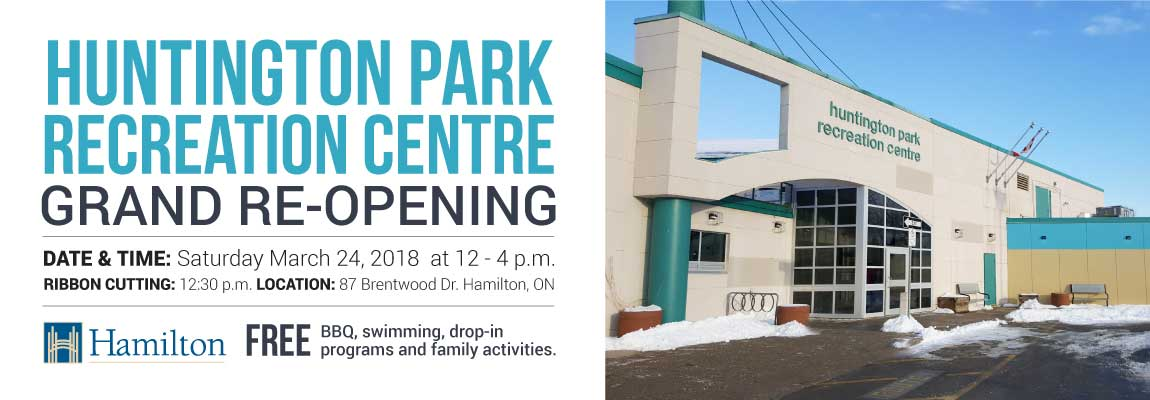 Huntington Park Recreation Centre Grand ReOpening Saturday, March 24
