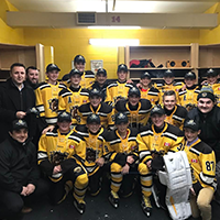 A group photo of the Hamilton Junior Bulldogs