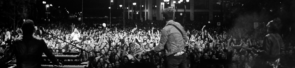 Image of Arkells Concert at Supercrawl from the stage facing the crowd