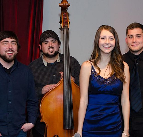 Group photo of the Aubrey Wilson Quartet