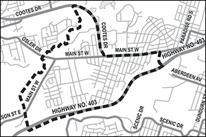 Location map of Ainslie Wood Neighbourhood Traffic Management Review